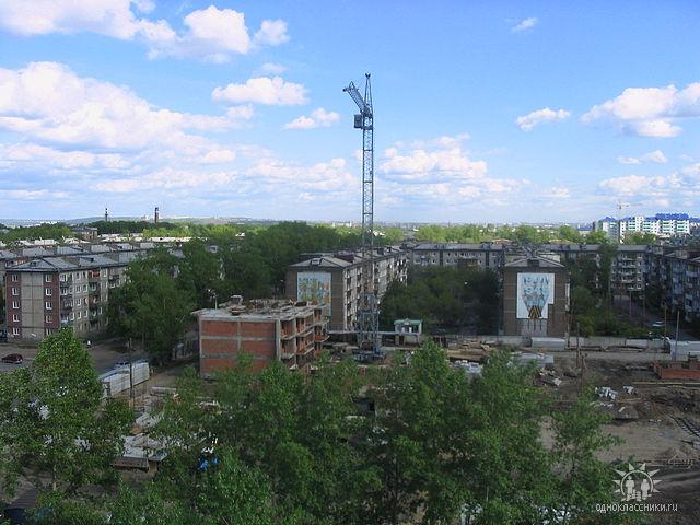 на ул.Мира-Муравьева начало стройки, вид с окна)