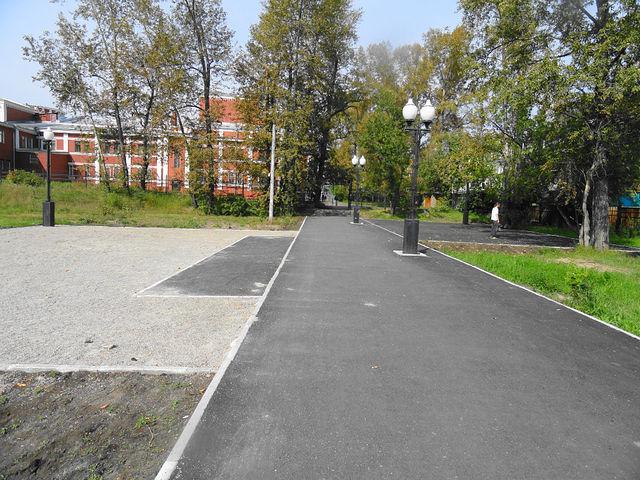 Комсомольский парк после реконструкции.