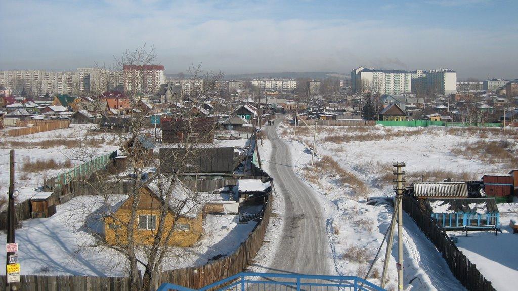 Вид на Иркутск-II с ж/д виадука ст. Иркутск-Сортировочный