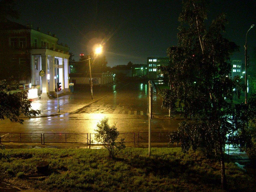 Вид из окна. Ночь улица и тд
