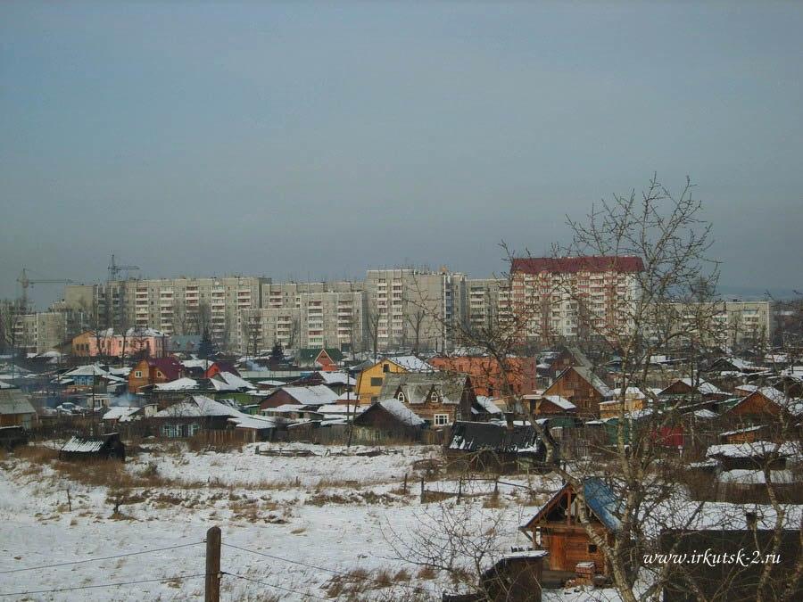 Вид на Второй Иркутск с виадука
